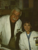 <h5>DIAGNOSIS MURDER</h5><p>Hanging with Dick Van Dyke on set.</p>