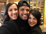 <h5>RITE-AID</h5><p>taking a selfie with Margaret Emery and wardrobe designer, Clifton Clarke</p>